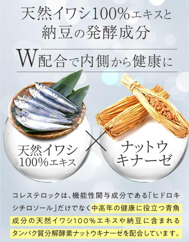 天然イワシエキスとナットウキナーゼ(納豆)の写真